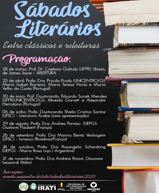 Sábados Literários: entre clássicos e releituras – Prof. Dr. Caetano Galindo (UFPR)