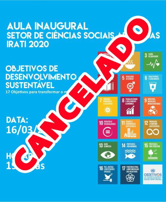 Aula Inaugural Setor Ciências Sociais Aplicadas Irati 2020