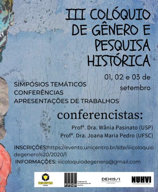 III Colóquio de Gênero e Pesquisa Histórica