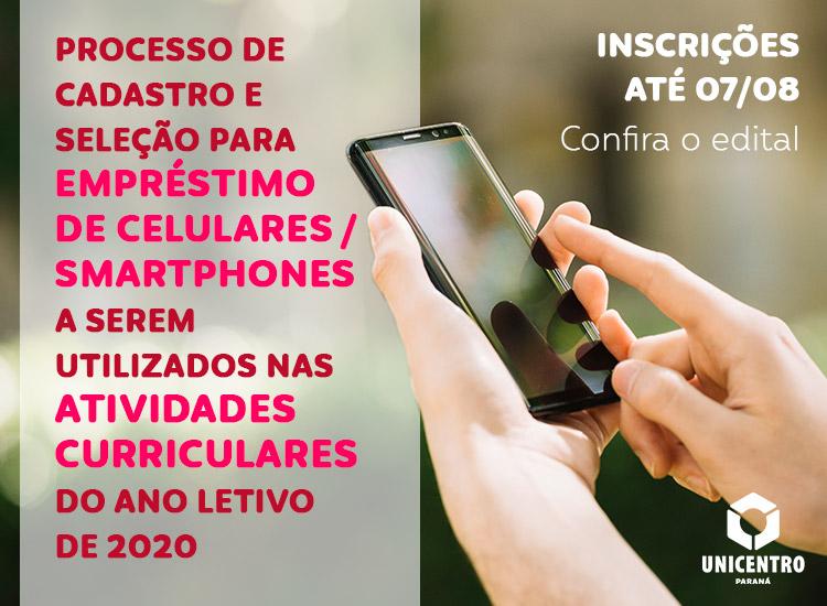 Seleção para empréstimo de celulares