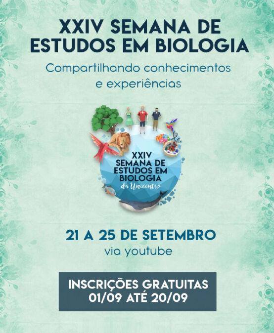 XXIV Semana de Estudo em Biologia