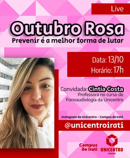 """Live """"Outubro Rosa – Prevenir é a melhor forma de lutar"""""""
