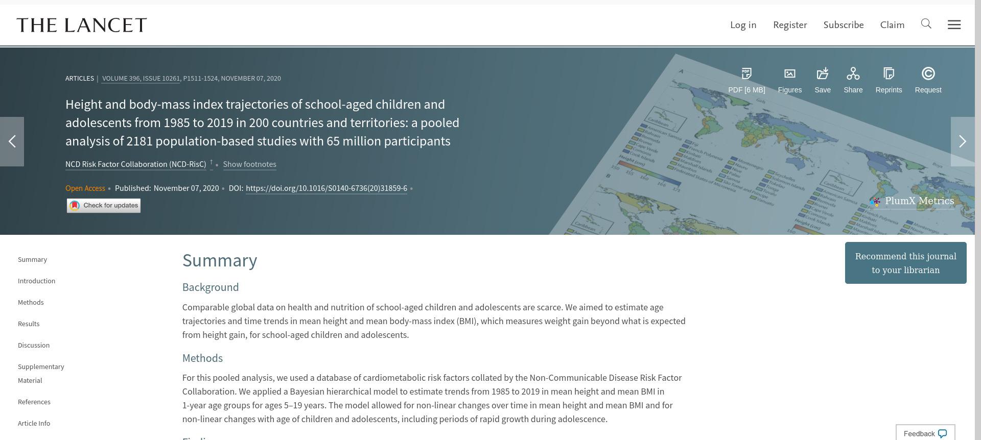 Pesquisador da Unicentro tem artigo publicado no periódico científico The Lancet
