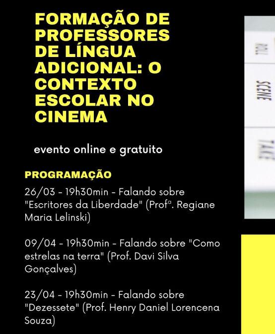 """Formação de professores de língua adicional: o contexto escolar no cinema – Discussão de """"Dezessete"""""""