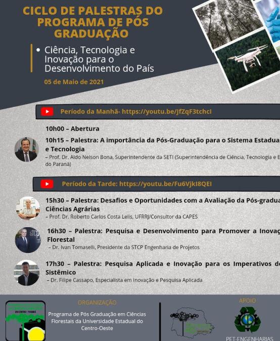 Ciclo de Palestras do Programa de Pós Graduação – Ciência, Tecnologia e Inovação para o Desenvolvimento do país