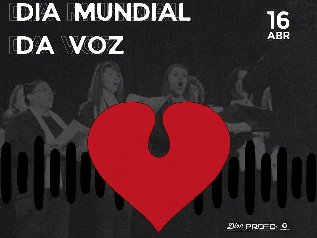Diretoria de Cultura promove atividades nas redes sociais sobre o Dia Mundial da Voz