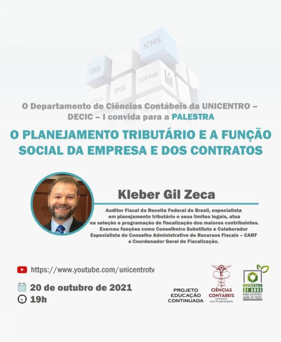 Palestra: O Planejamento Tributário e a função social da empresa dos contratos